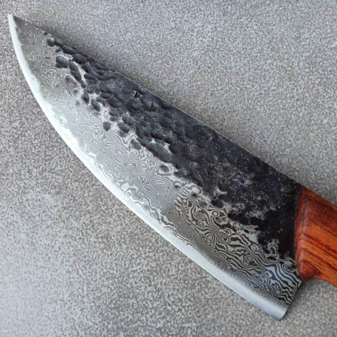 Klinge des geschweißten Damast Küchenmessers