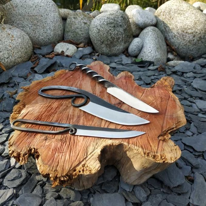 mittelalterliches Outdoor-Messerset